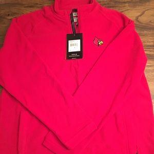 NWT Men's Adidas Half Zip Large Red